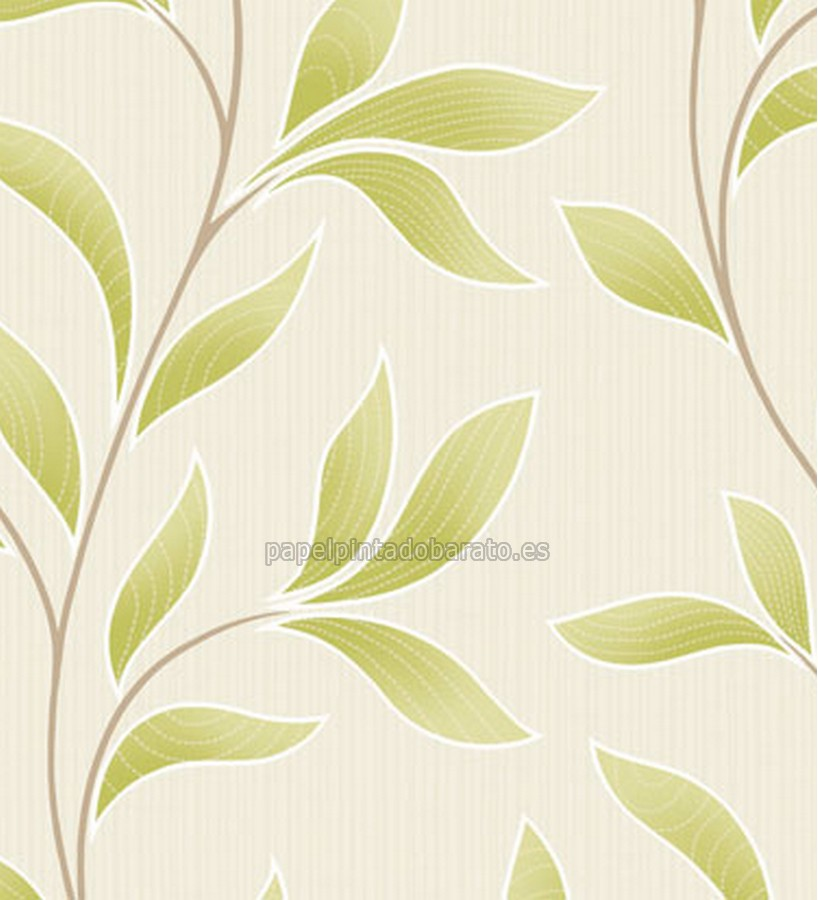Papel pintado hojas verdes saint honore 1090150 for Papel pintado saint honore