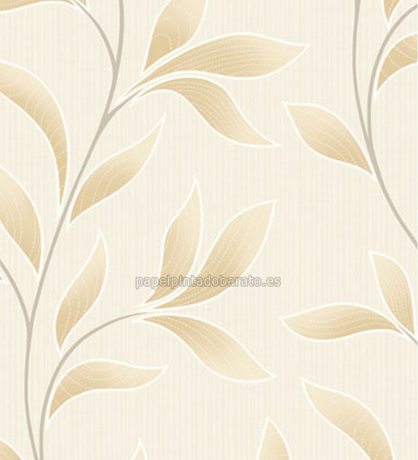 Papel pintado hojas beige saint honore 1090152 for Papel pintado saint honore