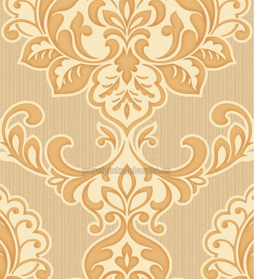 Papel pintado damasco clasico ocre saint honore 1090157 for Papel pintado damasco