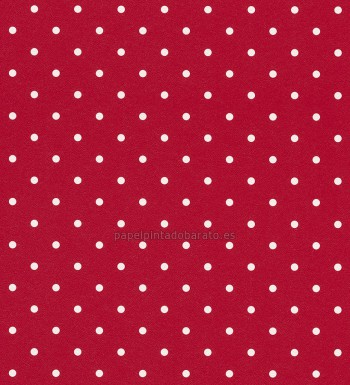 Papel pintado lunares fondo rojo 1003372 for Papel decorativo infantil