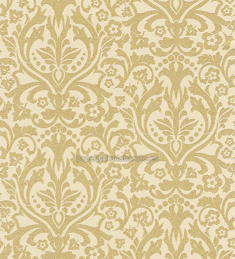 Papel pintado damasco moderno oro 1003623 for Papel pintado damasco