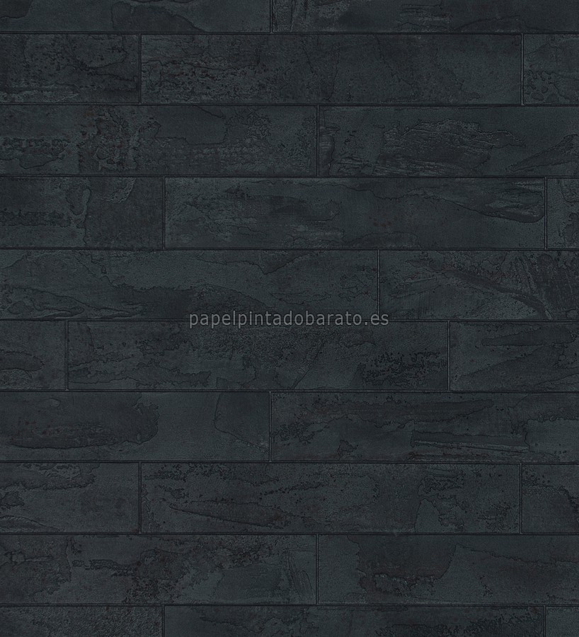 Papel pintado losas forma de ladrillo negro 1004294 for Papel de pared negro