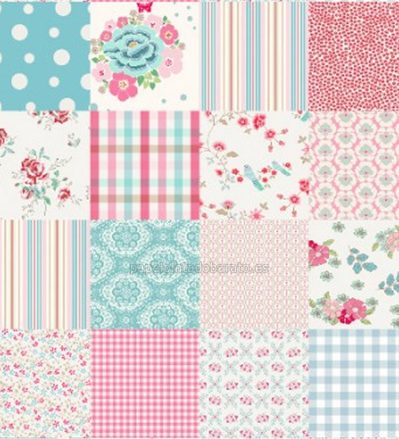 Papel pintado coordonne room seven 33 girls patchwork for Papel pintado coordonne