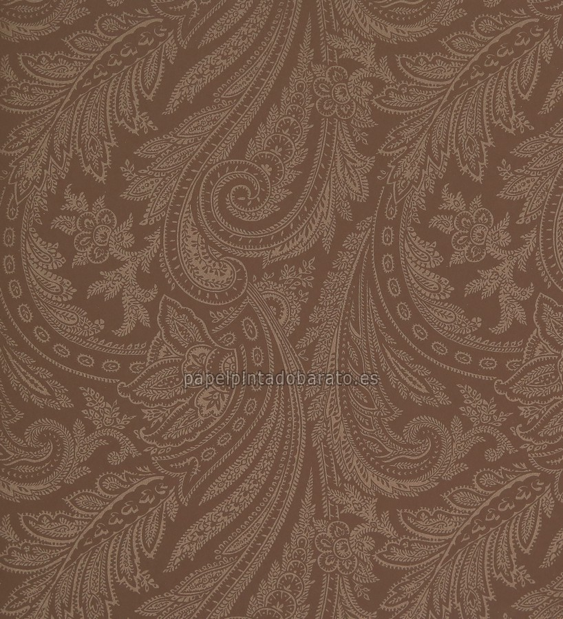 Papel pintado cashmere marron chocolate y brillo ic 16214 - Papel pintado marron ...