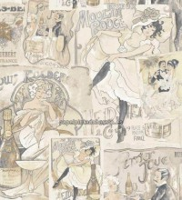 Papel pintado collage moulin rouge y can can - 1115958