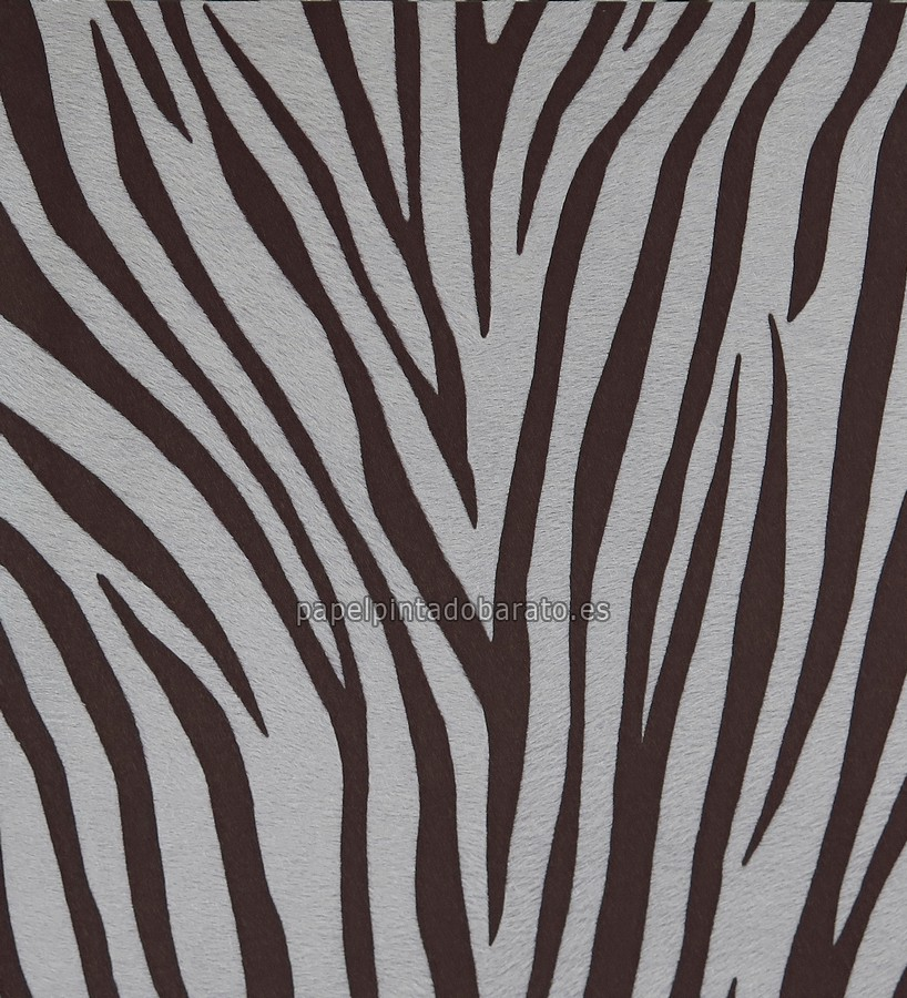 Papel pintado piel de cebra marron chocolate 1116027 for Papel pintado cebra