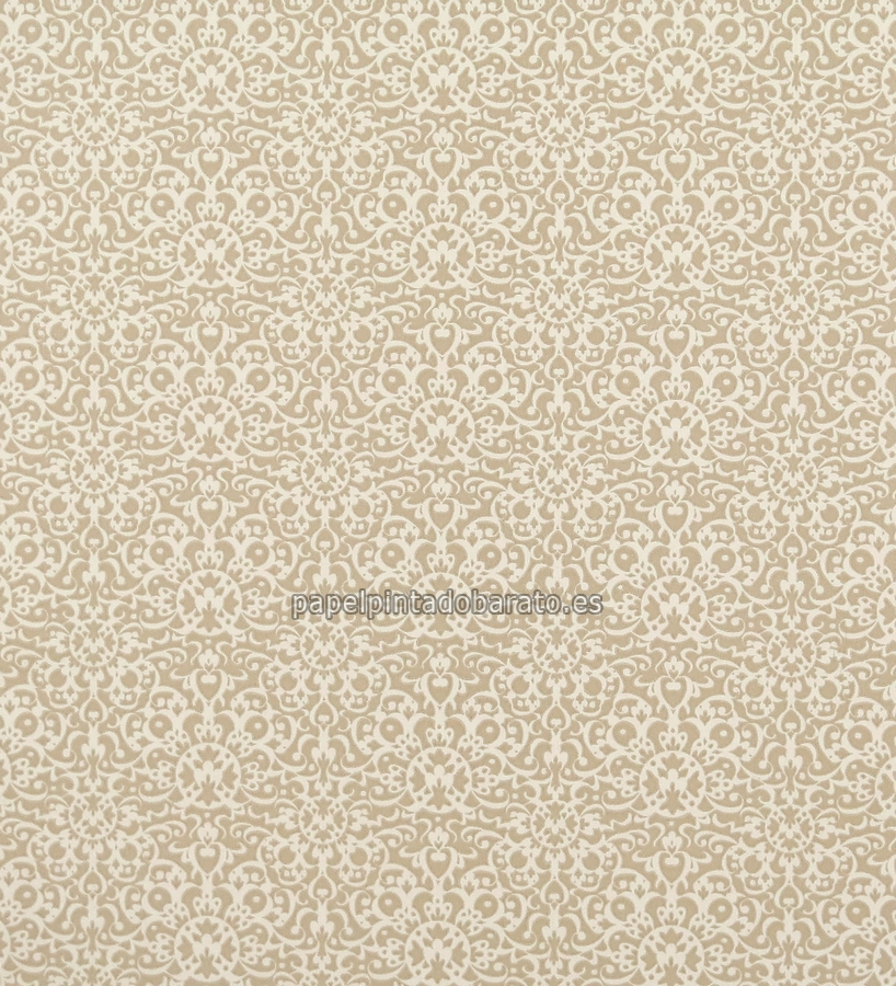 Papel pintado damasco arabe marron arena y beige 1070164 for Papel pintado damasco