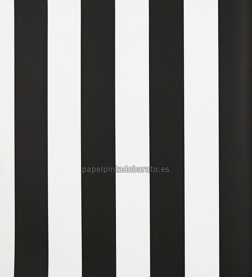 Papel pintado rayas negras y blancas 1070188 for Papel de pared negro