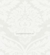 Papel pintado damasco barroco floral blanco - 40421