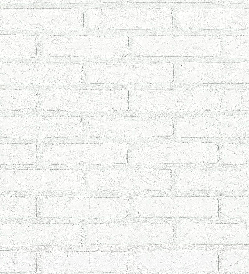 Papel pintado ladrillo blanco estilo industrial relieve for Papel pintado rustico