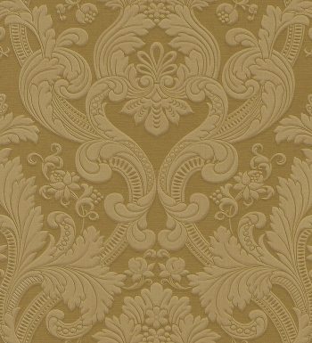Papel pintado damasco dorado estilo italiano bordado 40730 for Papel pintado damasco