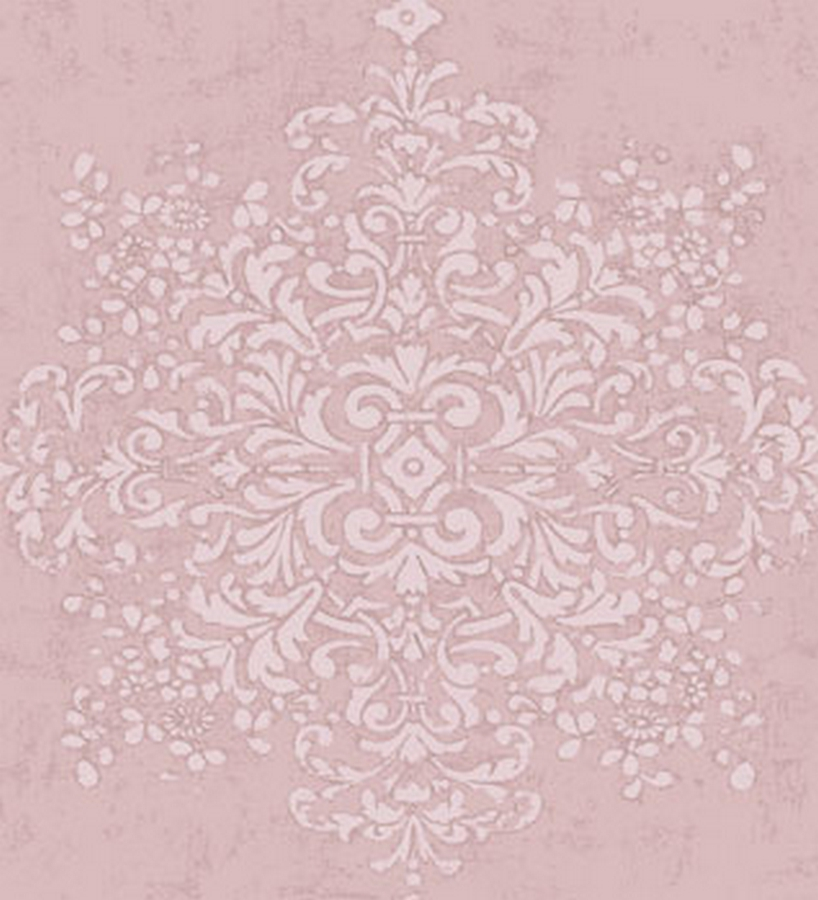 Papel pintado vintage con medall n shabby chic rosa 2018065 - Papel pared vintage ...