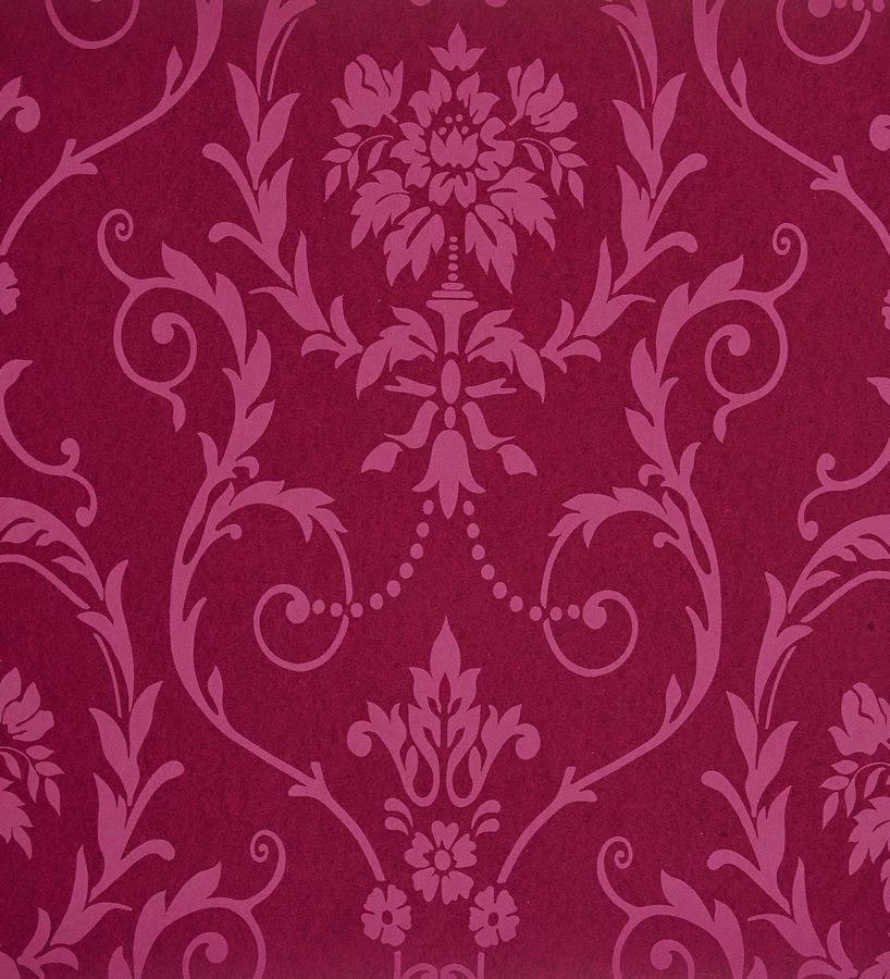 Papel pintado damasco moderno fucsia y berenjena 2019380 for Papel pintado damasco