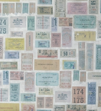 Papel pintado collage de tickets de viajes multicolores - 2020682
