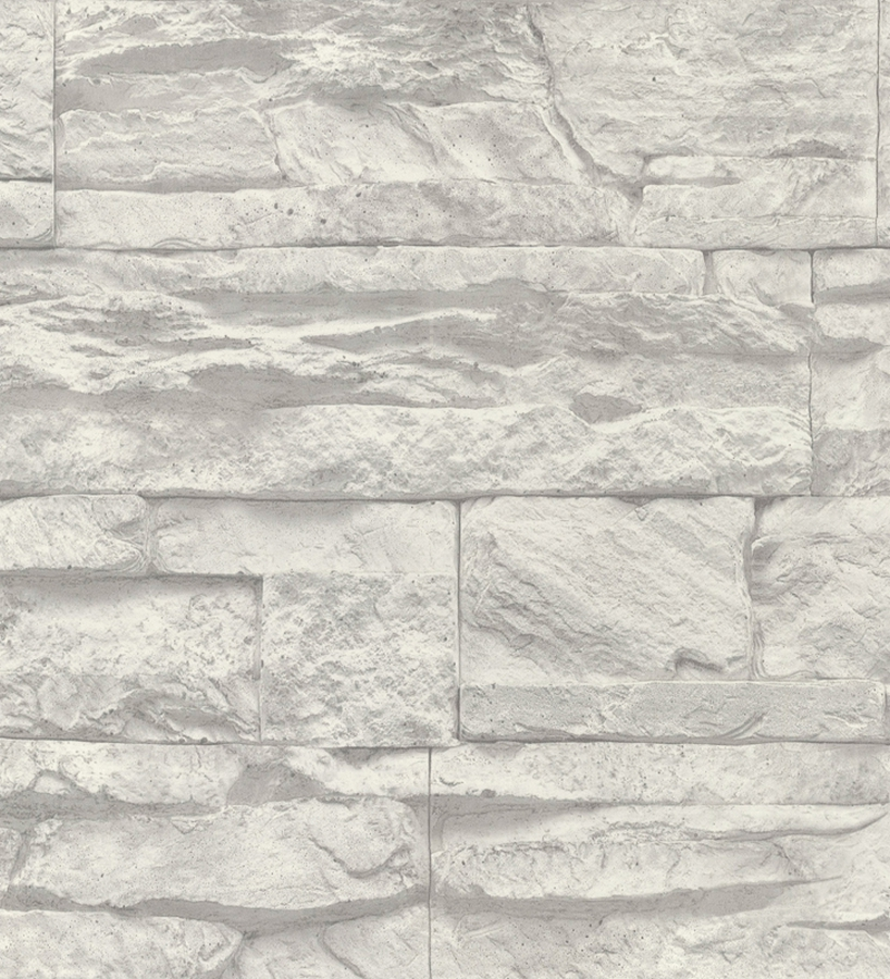 Papel pintado pared de piedra pizarra color gris 1141644 - Piedras para pared ...