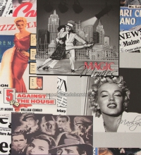 Papel pintado collage de Marilyn Monroe y actores de Hollywood - 1116597