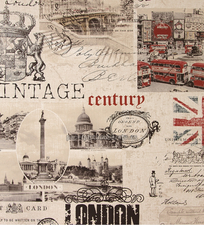 Vintage london wallpaper the image kid for Papel pintado vintage