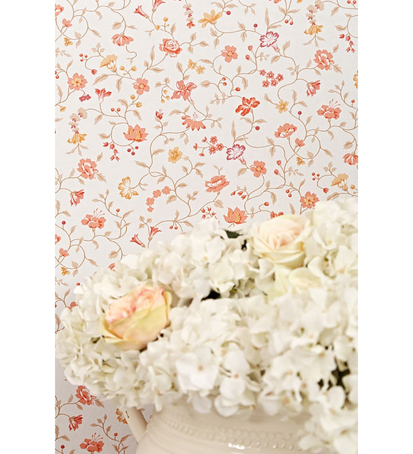 Papel pintado flores peque as vintage peque as estilo chic - Papel pintado estilo vintage ...