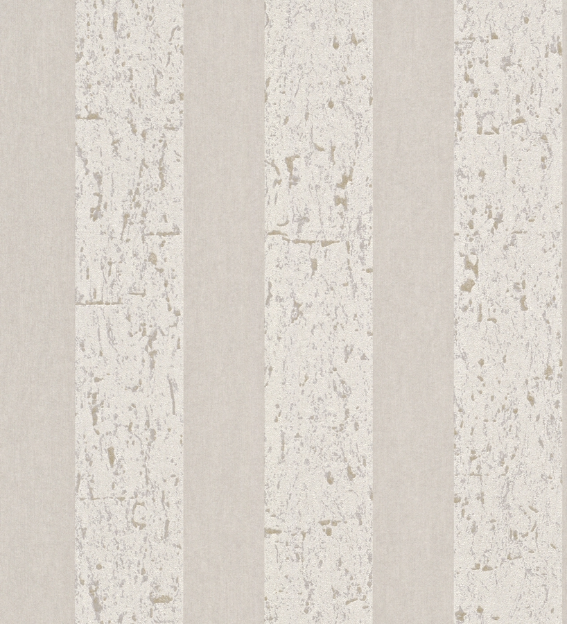 Papel pintado rayas anchas shabby chic beige claro y vis n - Papel pintado rayas beige ...