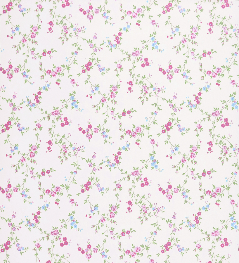 Papel pintado vintage flores peque as dise o ingl s 41026 for Papel pintado ingles
